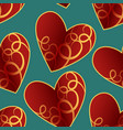 a seamless pattern featuring repeating hearts vector image vector image