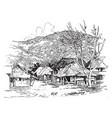 a typical village near manila vintage vector image vector image