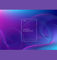 abstract background design fluid gradient with vector image vector image