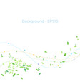 abstract background nature green concept vector image