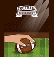 american football tournament vector image