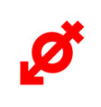 anti gender antisexuality symbol red icon vector image vector image