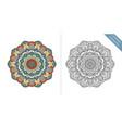 antistress coloring page mandala second vector image vector image