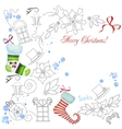 Background with Christmas things vector image