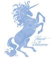 beautiful prance unicorn logo template vector image vector image