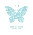 blue and white lace garden plants butterfly vector image