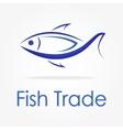 Blue fish logo vector image vector image