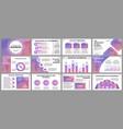 business presentation slides templates vector image