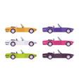 cabriolet car set in bright colors vector image vector image