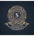 Calligraphic floral baroque monogram emblem s