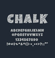 chalk editable text effect and text style vector image