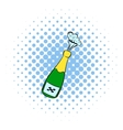 Champagne explosion icon comics style vector image