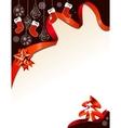 christmas gbackground with handing santa socks vector image vector image