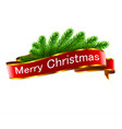 christmas holiday decorations with red ribbon vector image vector image