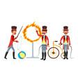 circus trainer amusement park mustache vector image
