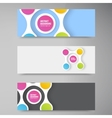 color circles infographic Color molecule vector image vector image