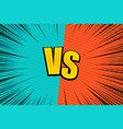 comic fight dynamic template vector image vector image
