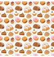 Cookie seamless pattern vector image