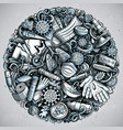 coronavirus hand drawn doodles vector image vector image