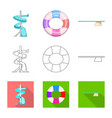 design of pool and swimming icon vector image