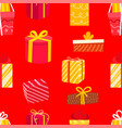 different color gift boxes seamless background vector image vector image