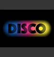 disco on colourful background vector image