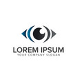 eye logo design concept template vector image vector image