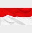 flag republic indonesia vector image