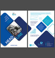 flyer template with blue rounded squares vector image vector image