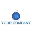 fruit juice blue logo vector image vector image