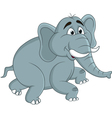 funny elephants cartoon vector image vector image
