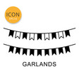 garlands icon isolated flat style vector image vector image