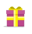 Gift Box Icon in Flat Style Design vector image vector image