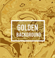 golden background in marble ink style vector image vector image