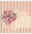 greeting card with hand-drawn flowers dahlia vector image vector image
