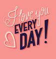 greeting card with happy valentines day vector image vector image