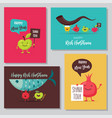 greeting cards with funny cartoon characters for vector image vector image