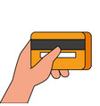 hand holding credit card banking online payment vector image