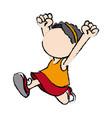 happy cute child girl cartoon character vector image vector image