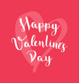 happy valentines day card on red background vector image vector image