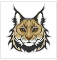 Head of lynx isolated on white - mascot logo vector image vector image