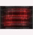 high tech set of lines on a red background vector image vector image