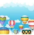 hot air balloon backgraund vector image vector image