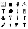 icons set symbols of refit repair sign vector image vector image