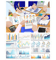 infographic and flowcharts business conference vector image