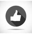 Like Flat Icon with long Shadow vector image vector image