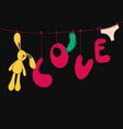 Love funny poster vector image vector image