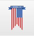 memorial day banner isolated vector image