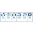 mobile app onboarding screens business management vector image vector image