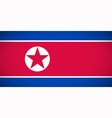 National flag of North Korea vector image vector image